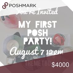 3 Days!! I'm hosting a POSH PARTY! 🎉 I just can't wait to host a Posh Party on August 7 for all of my PFFS...old, new and yet to be! The party will be the 12pm time slot and I will update the listing when the theme is announced!  In the meantime, feel free to tag your beautifully curated closets below! Xoxo Other