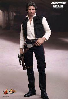 Figura Han Solo 30 cm. Escala 1/6. Movie Masterpiece. Star Wars. Hot Toys Espectacular figura de edición limitada del personaje de Han Solo de 30 cm, articulada, a escala 1/6, con accesorios y por supuesto 100% oficial y limitada. Un estupendo regalo que encantará a todos los fans, sin duda.