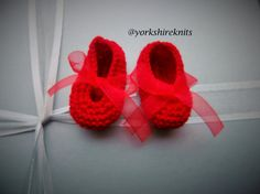 Hand Knitted Baby Bootees Booties Slippers by HandKnittedYorkshire