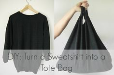 DIY: Sweatshirt Market Tote Bag