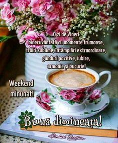 Happy Weekend, Tea Cups, Tableware, Dinnerware, Tablewares, Dishes, Place Settings, Cup Of Tea