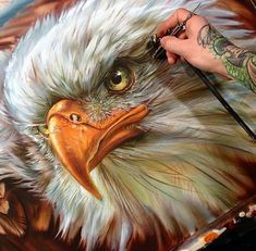 35 Most Beautiful Oil Paintings from Top Artists around the world Vogel Airbrush Designs, Airbrush Art, Air Brush Painting, Car Painting, Dark Fantasy Art, Eagle Drawing, Eagle Painting, Eagle Art, Custom Airbrushing