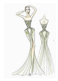 EDITH SAYLOR STYLE: EXCLUSIVE SKETCHES FROM THE VERSACE ATELIER