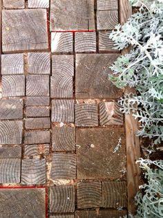 wood scraps walkway