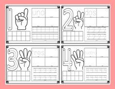 Material interactivo para trabajar los números traza, cuenta y remarca | Didáctica Educativa