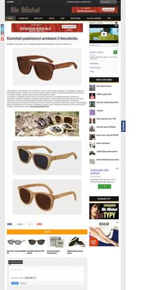 El Naturalista sunglasses featured in Me Miehet from Finland.