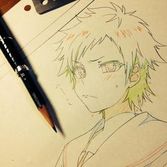 ✮ ANIME ART ✮ anime boy. . .angry expression. . .blushing. . .drawing. . .pencil. . .shading. . .doodle. . .graphite. . .colored pencil. . .kawaii