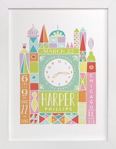 Welcome to the World by Shiny Penny Studio at minted.com