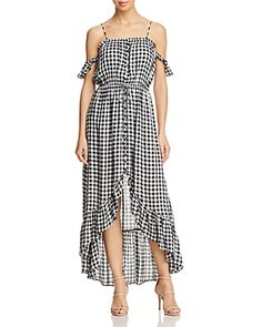 6e560b3019 Lost and Wander Lost + Wander Day Trip Ruffled Cold-Shoulder Gingham Dress  Women - Dresses - Bloomingdale s