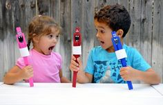DIY Popsicle Stick Monster Puppets kids will have so much fun