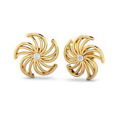Gold Earrings For Women, Gold Earrings Designs, Gold Jewellery Design, Girls Earrings, Gold Jewelry, Gold Jhumka Earrings, Gold Diamond Earrings, Women's Earrings, Metal Prices