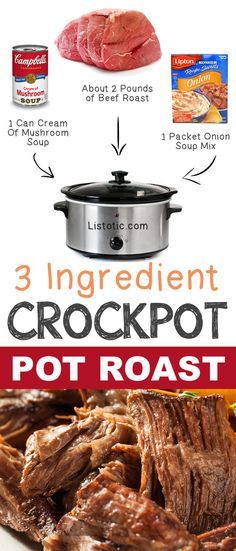 Pink Lemonade Smoothie Mix 3 Ingredient Pot Roast 12 Mind-Blowing Ways To Cook Meat In Your Crockpot Recetas Crock Pot, Crock Pot Food, Crockpot Dishes, Crock Pot Slow Cooker, Slow Cooker Recipes, Cooking Recipes, Crock Pots, Rump Roast Crock Pot, Roast Crockpot Recipes