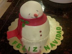 Chocolate Nutella filling snowman