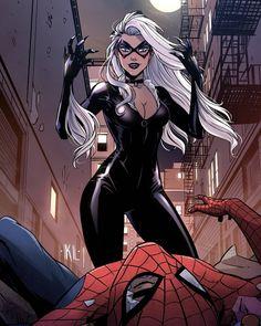 Black Cat Marvel, Spider Verse, Marvel Universe, Marvel Comics, Cat Lovers, Spiderman, Little Girls, Superhero, Cats