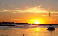 O nascer do sol na Ria Formosa - Faro - Algarve