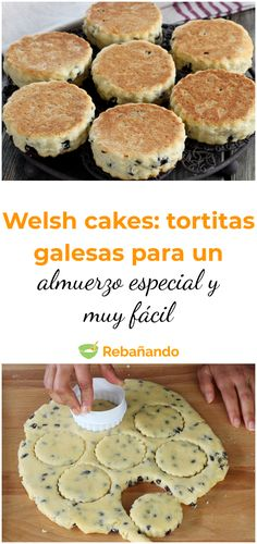 WELSH CAKES: un almuerzo especial y muy fácil, con estas RIQUÍSIMAS TORTITAS GALESAS #desayuno #welshcakes #tortitas #recetasdedesayuno Brownie Recipes, My Recipes, Healthy Recipes, Puerto Rican Recipes, Bread Machine Recipes, Food Humor, Fabulous Foods, Finger Foods, Cupcake Cakes