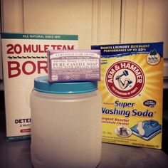Homemade Laundry soap with Dr. Bronner's soap bar