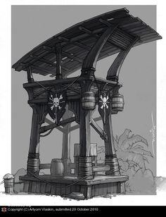 tower concept by Artyom Vlaskin - Game: Captain Blood