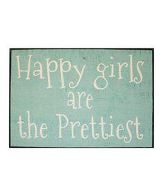 Love this 'Happy Girls' Wall Sign on #zulily! #zulilyfinds