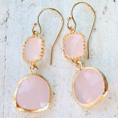 Drops of Jupiter Guava Pink Gold Earrings. #laylagrayce #jewelry #earrings