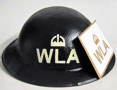 WWII Womens Land army Helmet Stencil The Women's Land Army (WLA) was a British civilian organisation created during the First and Second World Wars to work in agriculture replacing men called up to the military. Women who worked for the WLA were commonly known as Land Girls. This stencil is take from an original example and is suitable for spray or hand painting. www.warhats.com
