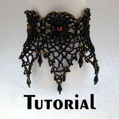 TUTORIAL Pineapple Bead Lace for Bracelet or Choker   Mikki Ferrugiaro Designs