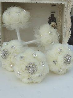 Brides Bridesmaids Brooch Bouquet Jewelled Wedding by BroochBride