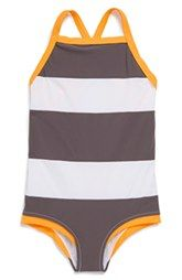 Lisa Lozano Colorblock One-Piece Swimsuit (Toddler Girls, Little Girls & Big Girls)