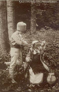 Prinz Carol und seine Schwester Prinzessin Elisabeth von Rumänien, future King of Romania and Queen of Greece Royal Family Lineage, Folk Costume, Costumes, Romanian Royal Family, Blue Bloods, Crown Jewels, Royalty, Prince, Descendants