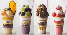 Cafe Menu, Cafe Food, Breakfast Smoothie Recipes, Pastry Shop, Bubble Tea, Smoothie Bowl, Food Cravings, Food Truck, Frozen