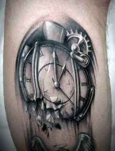 27 Best Melting Clock Tattoo Drawings Images In 2017 Tattoo