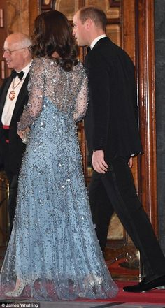 Arriving in style: The Duke and Duchess of Cambridge attend the Royal Variety Performance at the Palladium Theatre, London, UK, on the 24th November 2017