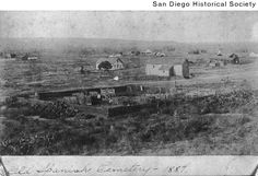 Title:  View of Old Town looking northwest from the cemetery  Date:  [ca. 1885] 1880/1890  Contributing Institution:  San Diego History Center (formerly San Diego Historical Society)
