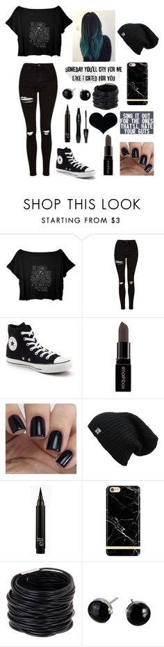 """""""My Dream Outfit #2"""" by maggieella on Polyvore featuring Topshop, Converse, Smashbox, Lancôme, Richmond & Finch and Saachi"""