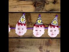 Party Hat Printable DIY Kids Party Bunting  Printable DIY Kids / Christening / Baptism / Naming Day Ceremony / First Birthday Party Bunting Decorations -  Lots of great DIY / Craft ideas for your party - with inspiration for handmade invitations, - adorable baby face and party hat garland. This step by step tutorial comes with a printable/digital PDF where you can personalise the template online and make at home with your little one.