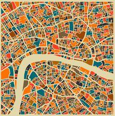 Jazzberry Blues - City Maps - London