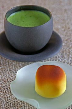 Japanese matcha tea and sweets