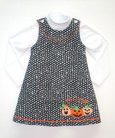 Loving this Black & White 'Boo' Turtleneck Jumper - Infant, Toddler & Girls on #zulily! #zulilyfinds