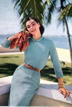 Knit fashion for Vogue, 1954.