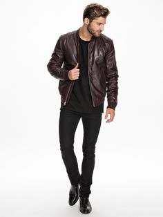 Leather Jacket 81 - Blk Dnm - Ruby - Jackets And Coats - Clothing - Men - NlyMan.com