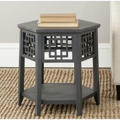 Safavieh American Home Zelda End Table, Pearl Taupe