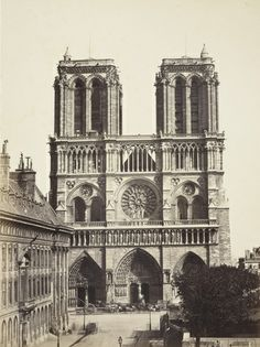 Notre Dame Cathedral, Paris, ca 1853. I wonder what the building in the foreground was? Not there anymore.