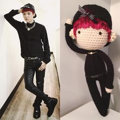 "73 lượt thích, 11 bình luận - Claire (@virtualrecluse) trên Instagram: ""Suga! // I had a lot of fun making this ☺ Other members coming soon~ . . #crochet #amigurumi #bts…"""