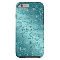 Shiny Paisley Turquoise iPhone