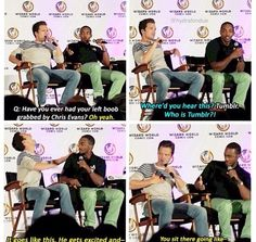 "Sebastian Stan and Anthony Mackie >> ""who is tumblr"" flipping hilarious"