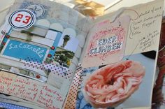 """A page from """"Remains of the Day"""" art journal by Mary Ann Moss - Hope some day I can take her class."""