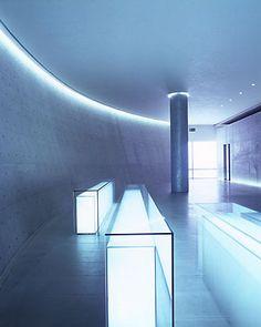 Teatro Armani lobby in Milan by Japanese architect Tadao Ando _