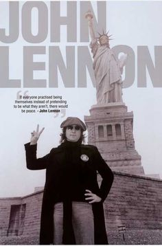 John Lennon Peace and Liberty New York Poster 24x36 – BananaRoad