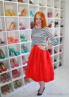 red Tibi skirt: more photos at www.ForeverAmber.co.uk