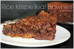 Rice Krispie Treat Brownies!